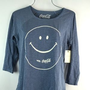 Lucky Brand Women's Coca Cola Smile Tee Size M